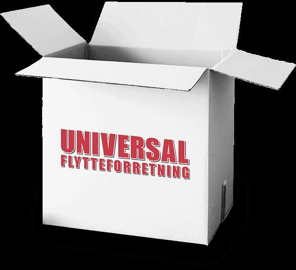hvid papkasse med tekst på